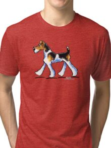 Wire Fox Terrier Trot Tri-blend T-Shirt