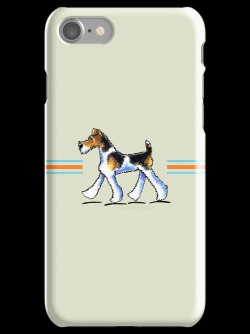 Wire Fox Terrier Trot by offleashart