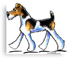 Wire Fox Terrier Trot Canvas Print