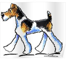 Wire Fox Terrier Trot Poster