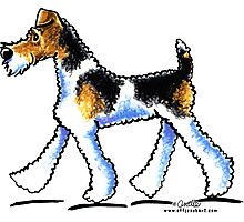 Wire Fox Terrier Trot Photographic Print