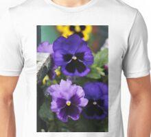 Purple Pansies Unisex T-Shirt