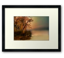 """ The Fog and What Awaits "" Framed Print"