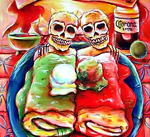 Dos Amigos, Dos Burritos,  by Heather Calderon