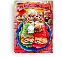 Dos Amigos, Dos Burritos,  Canvas Print
