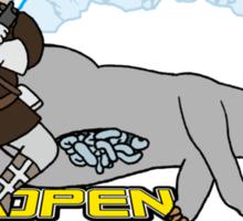 Open Tauntaun Style Sticker