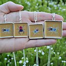 Spider necklaces :) by Trudi Hipworth