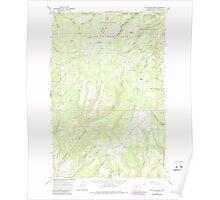 USGS Topo Map Washington State WA Colockum Pass 240606 1966 24000 Poster