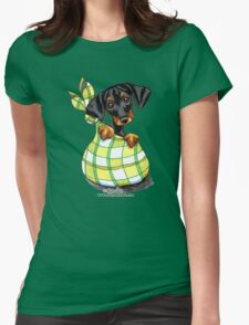 Doberman Sack Puppy Womens Fitted T-Shirt