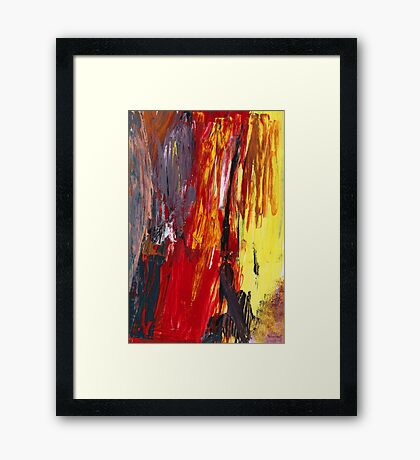 Abstract - Acrylic - Rising power Framed Print