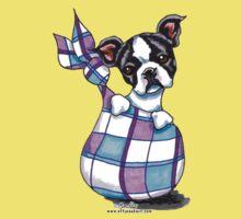 Boston Terrier Sack Puppy Kids Tee