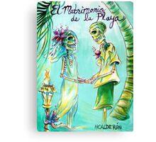 El Matrimonio de la Playa Canvas Print