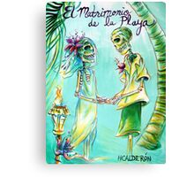 El Matrimonio de la Playa Canvas Print