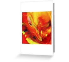 Vivid Abstract Vibrant Sensation II Greeting Card