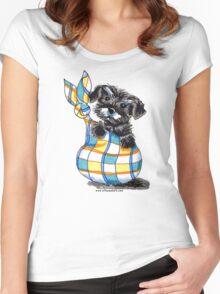 Miniature Schnauzer Sack Puppy Women's Fitted Scoop T-Shirt