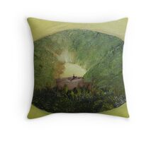 Alone on the Lake at Sunrise Throw Pillow