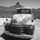 Route 66 - Old Chevy Pickup by Frank Romeo