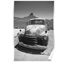 Route 66 - Old Chevy Pickup Poster