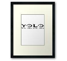 YOLO for Light Shirt  Framed Print
