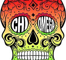 Chi Omega Sugar Skull by trendysticks