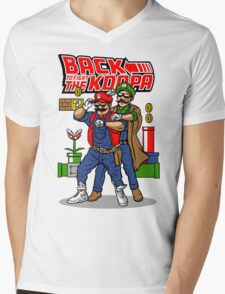 Back To Fight The Koopa Mens V-Neck T-Shirt