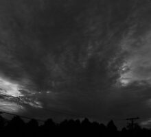 Looming Black and White by Adam Kuehl