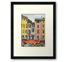 La Plaza Aix Framed Print