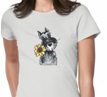 Sunny Schnauzer Womens Fitted T-Shirt