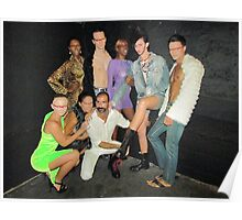 Designer Geary Marcello with models Poster