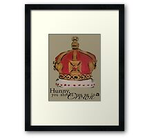 See me in a crown Framed Print