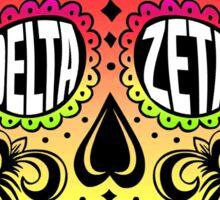 Delta Zeta Sugar Skull Sticker
