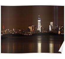 New York City/Tribute In Light; 9/6/2012 Poster