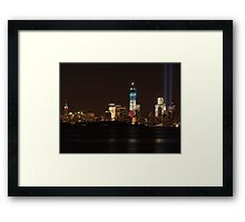 New York City/Tribute In Light; 9/11/2012 Framed Print
