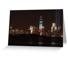 New York City/Tribute In Light; 9/11/2012 Greeting Card