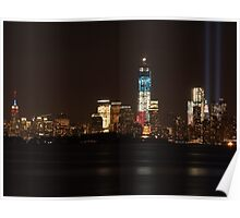 New York City/Tribute In Light; 9/11/2012 Poster
