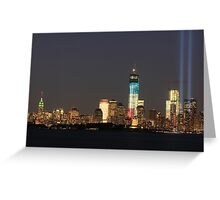 New York City/Tribute In Light; 9/10/2012 Greeting Card