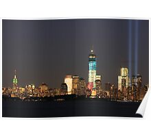 New York City/Tribute In Light; 9/10/2012 Poster