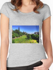 The Gardens in August Women's Fitted Scoop T-Shirt