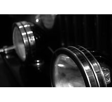 Round Head Lights Photographic Print