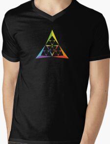 Triangle Fractal Mens V-Neck T-Shirt