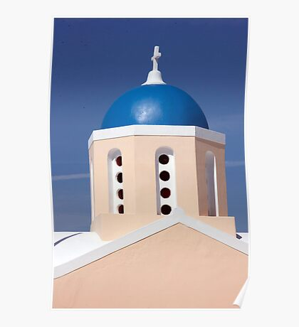 Blue Sky, Blue Dome Poster