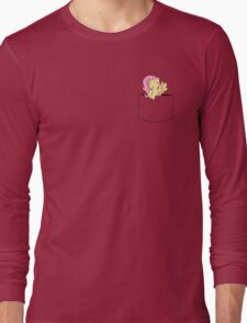 Pocket Flutter Shy Long Sleeve T-Shirt