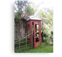 Old Red Telephone Box Canvas Print