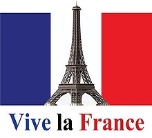 Vive la France Flag and Eiffel Tower  by sandyspider