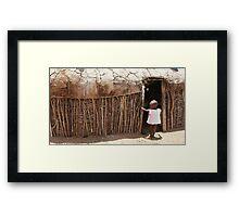 Massai Village Hut Framed Print
