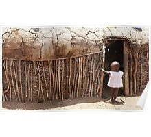 Massai Village Hut Poster