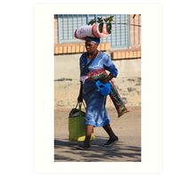 Shopping in Swaziland, South Africa Art Print