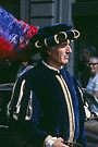 Gentleman, C16 costume Parade Florence Italy 19840708 0033  by Fred Mitchell