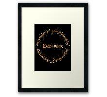 the Ring Script Framed Print
