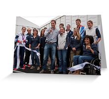 Olympic & Paralympic medal winners open the PSP Southampton boat show 2012 Greeting Card
